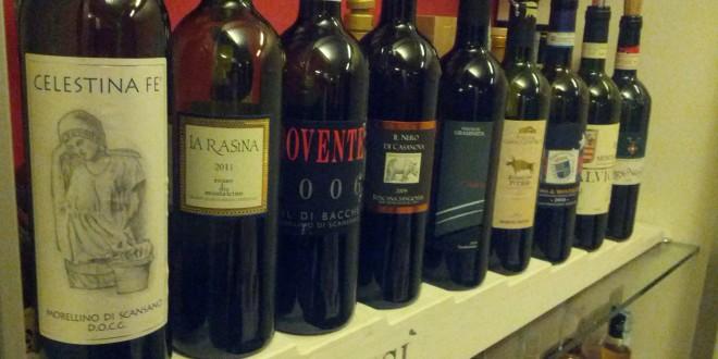 Degustazione dei Sangiovese da Morellino a Rosso di Montalcino